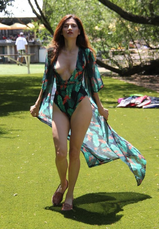 Blanca Blanco in Swimsuit at a park in Malibu 08/09/2018