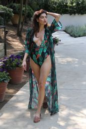 Blanca Blanco in Swimsuit at a park in Malibu 08/09/2018