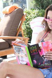 Brooke Burke-Charvet - Reading and Getting Her Hair Done in Malibu, July 2018