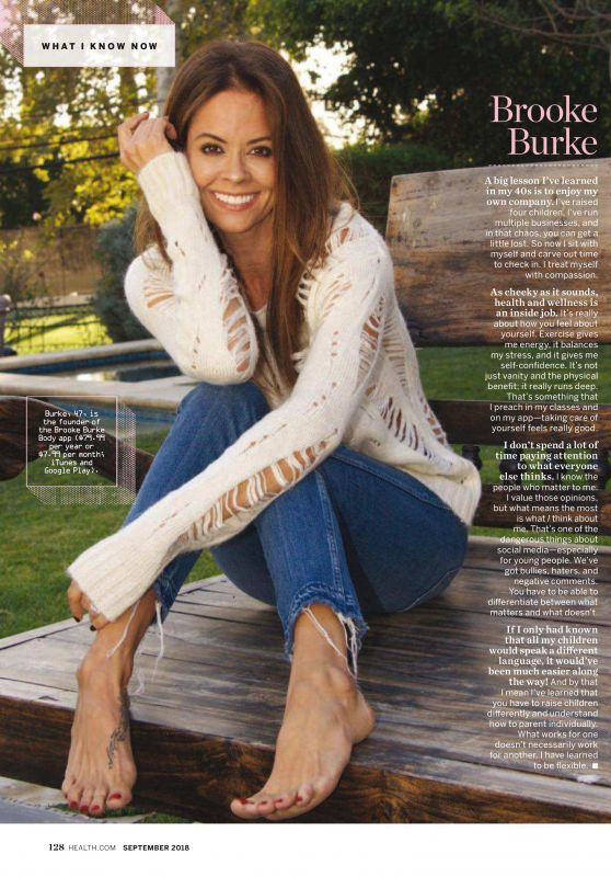 Brooke Burke - Health September 2018