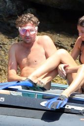 Camila Morrone Bikini Candids - Holiday in Nerano, August 2018