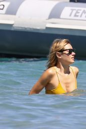 Camille Rowe in Bikini in Corsica, August 2018