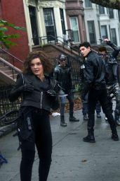 "Camren Bicondova - ""Gotham"" Set in Brooklyn 08/30/2018"