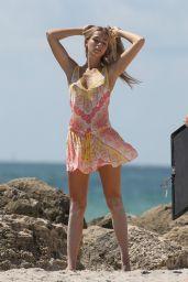 Caroline Kelley Bikini Photoshoot on the Beach in Miami 08/22/2018