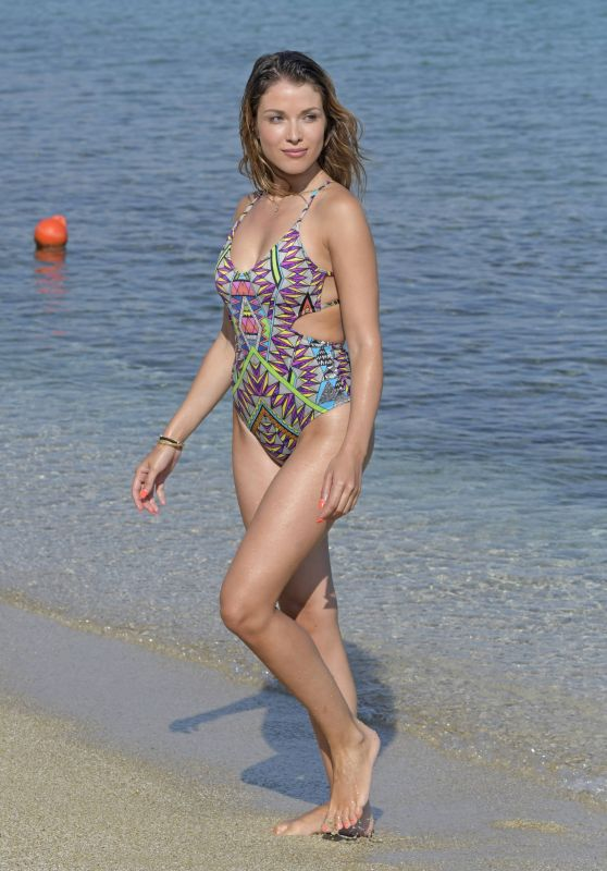 Catarina Sikiniotis in Swimsuit in Mykonos, August 2018