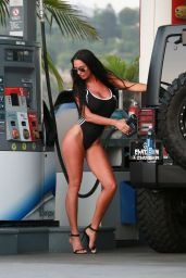 Charlie Riina in Swimsuit - Photoshoot at a Gas Station in Malibu
