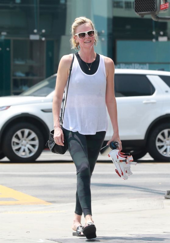 Charlize Theron at SoulCycle in West Hollywood 08/04/2018
