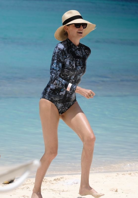 Charlize Theron in Swimsuit at Atlantis Bahamas Resort 08/18/2018