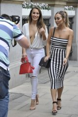 Chloe and Lauryn Goodman - Rosso Restaurant in Manchester 08/13/2018