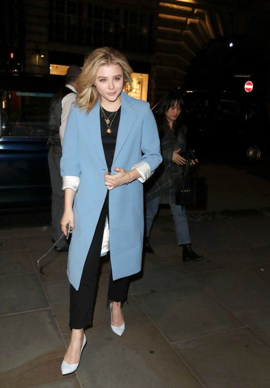 Chloe Moretz Night Out Style - London 08/28/2018