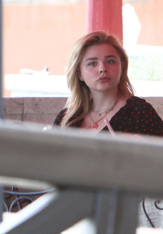 Chloe Moretz - On a Terrace by the Sea in Venice 08/30/2018