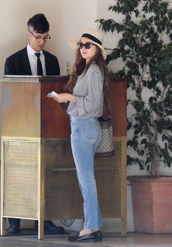 Dakota Johnson - Leaving The Sunset Tower in West Hollywood 08/22/2018
