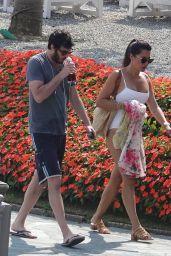 Danielle Bux and Her Boyfriend Nate Greenwald in Como Lake 08/03/2018