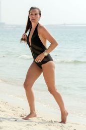 Danielle Lloyd in Swimsuit on the Beach in Dubai 08/23/2018
