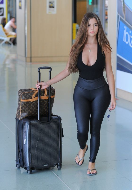 Demi Rose - Arriving at Ibiza Airport, August 2018