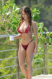 Demi Rose in Bikini - Filming New Footage For Her New App in Ibiza, August 2018