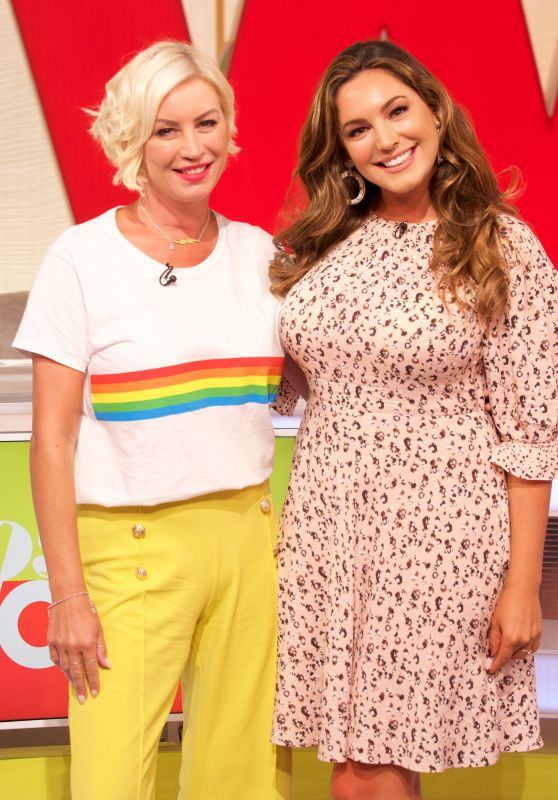 Denise Van Outen and Kelly Brook - Loose Women TV Show in London 08/02/2018