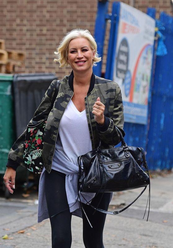 Denise Van Outen - Leaving a Studio in London 08/15/2018