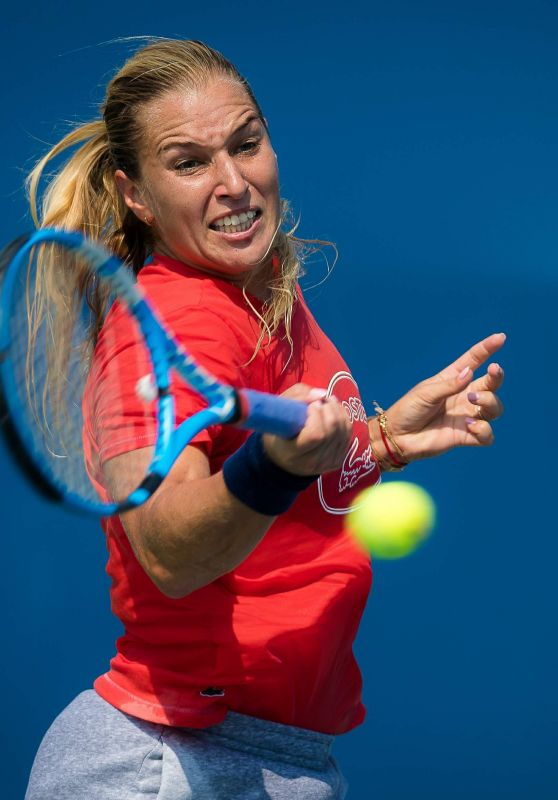 Dominika Cibulkova – Practices Ahead of the 2018 US Open in NYC