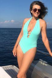 Elizabeth Hurley in Bikini - Social Media 08/20/2018