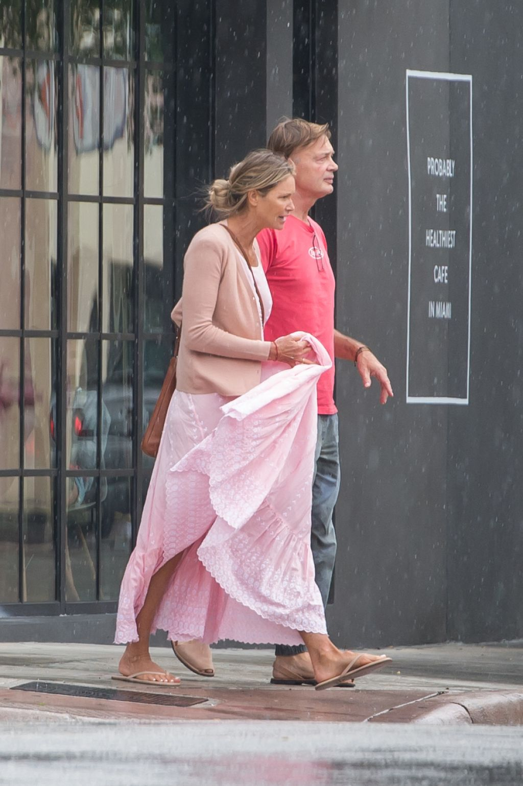 elle macpherson and andrew wakefield shopping in miami