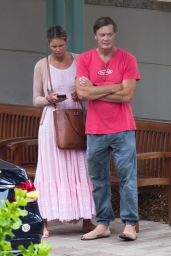 Elle Macpherson and Andrew Wakefield - Shopping in Miami 07/29/2018