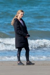 "Emilia Fox - Filming Scenes For ""Delicious"" in Cornwall 08/08/2018"