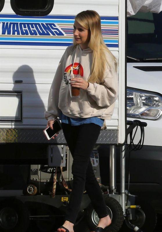 "Emma Roberts - ""American Horror Story"" Set in LA 08/29/2018"