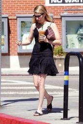 Emma Roberts in a Little Black Dress in Brentwood 08/30/2018
