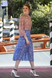 Emma Stone - Arriving at Hotel Excelsior in Venice, Italy 08/30/2018