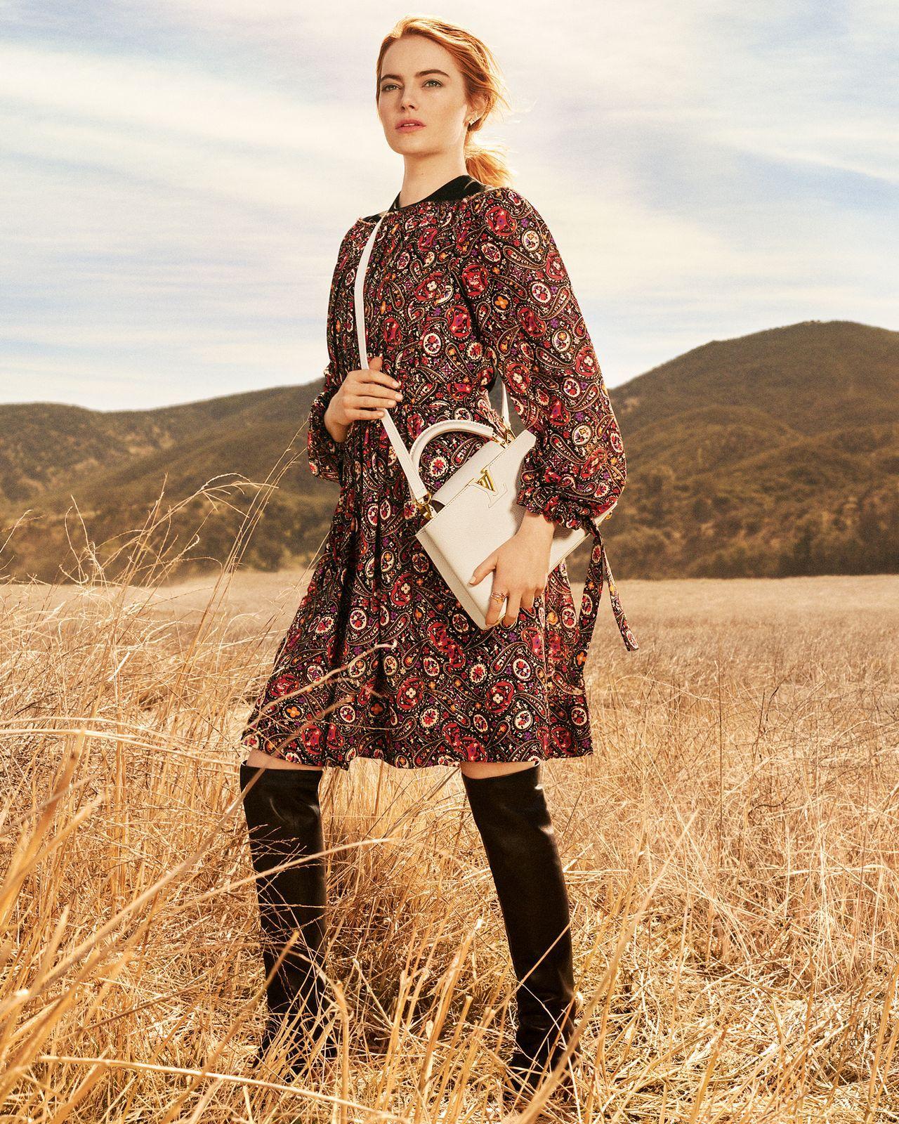 Emma Stone - Photoshoot for Louis Vuitton Pre-Fall 2018 ...