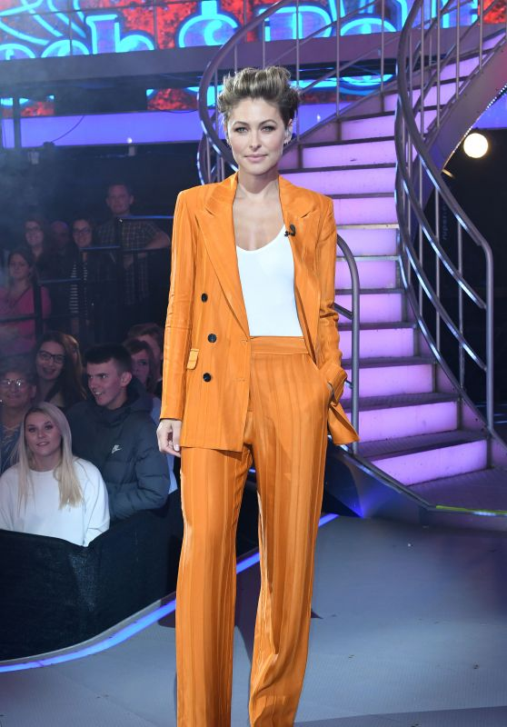 Emma Willis - Celebrity Big Brother Eviction Show in Borehamwood 08/28/2018