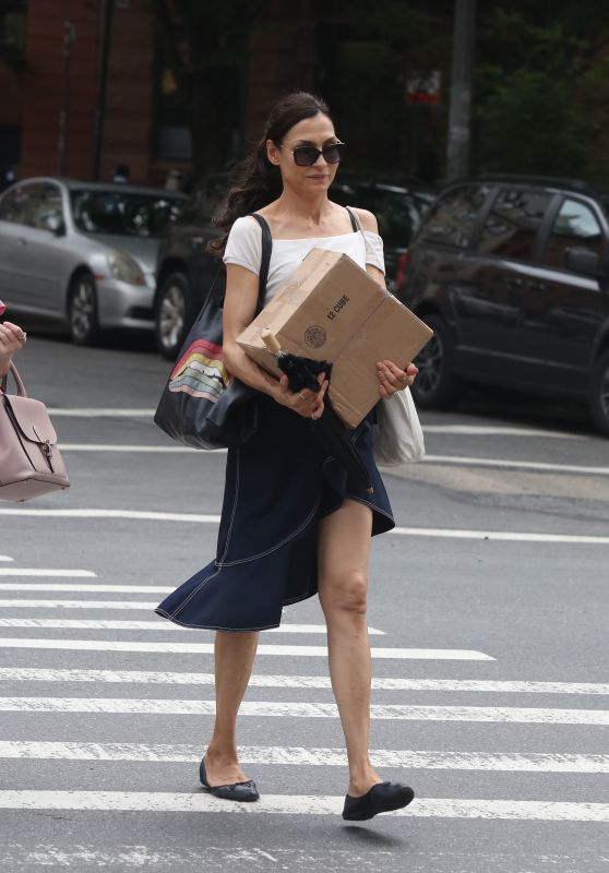 Famke Janssen Casual Style - New York City 08/18/2018