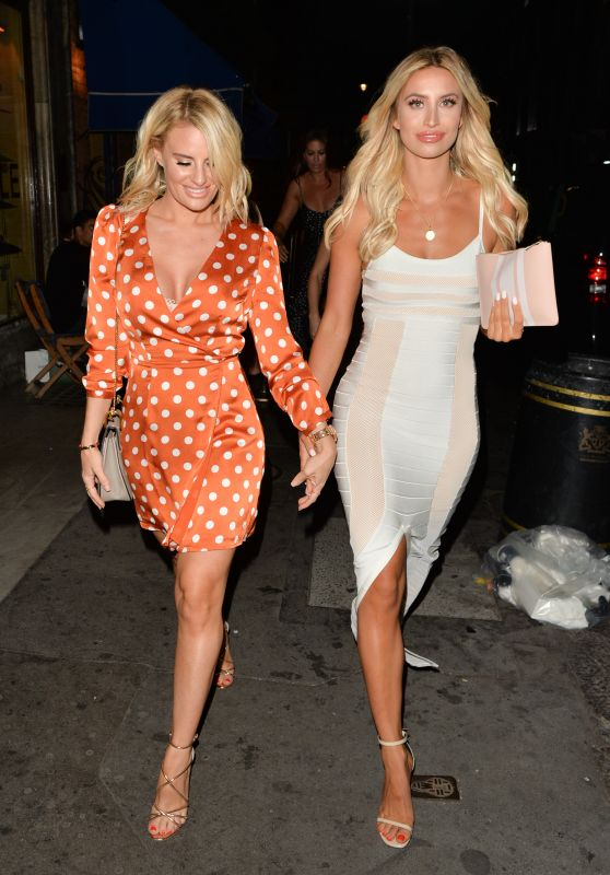 Ferne McCann and Danielle Armstrong - Leaving Bagatelle Restaurant Mayfair 08/04/2018