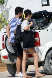 Gemma Chan and Dominic Cooper Leaving Formentera, August 2018