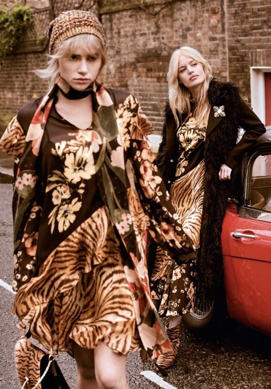Georgia May Jagger and Suki Waterhouse - Twinset