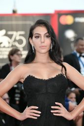 """Georgina Rodriguez – 2018 Venice Film Festival Opening Ceremony and """"First Man"""" Red Carpet"""
