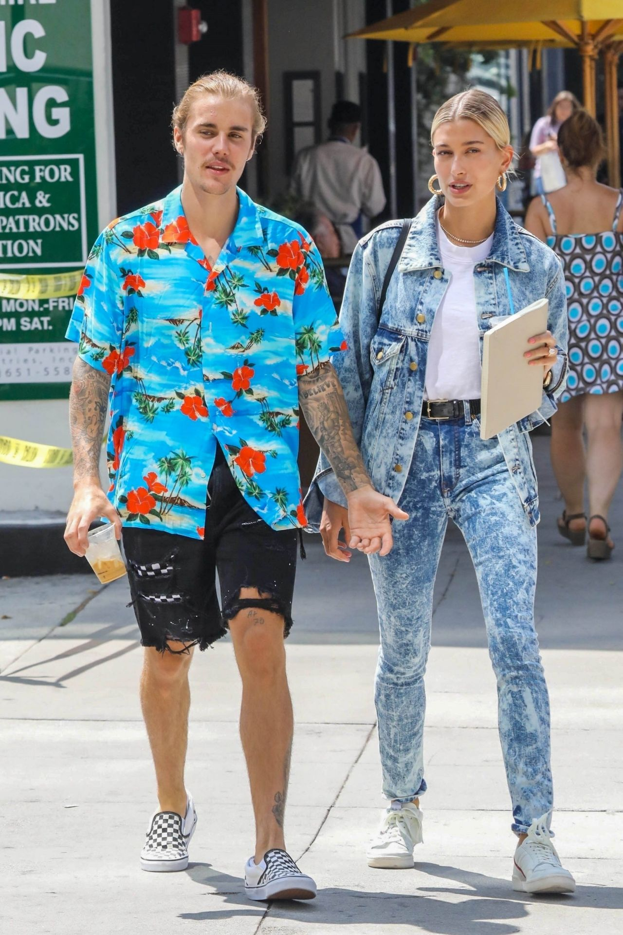 hailey baldwin and justin bieber out in west hollywood