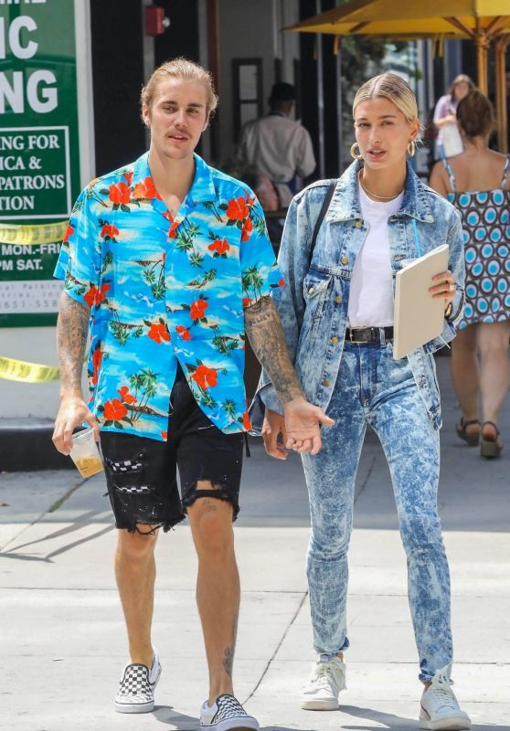 Hailey Baldwin and Justin Bieber - Out in West Hollywood 08/26/2018