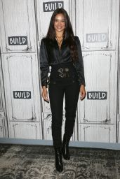 Hannah Ferguson, Nadine Leopold, Shanina Shaik, Ping Hue, Caroline Lowe and Devon Windsor at BUILD Speaker Series NY 08/22/2018