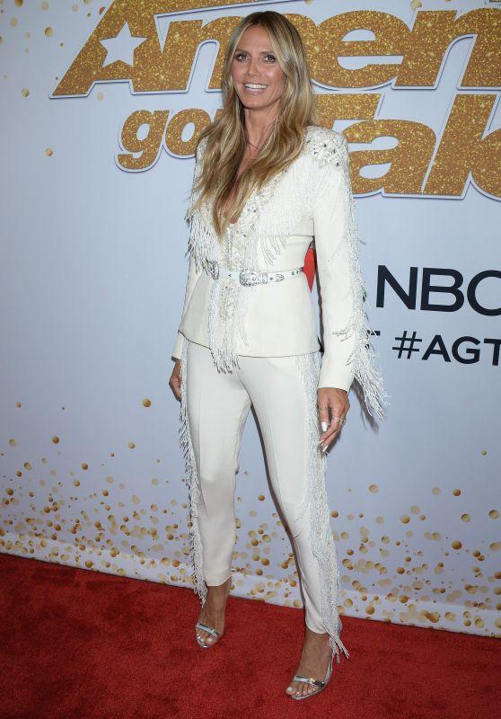 Heidi Klum – America's Got Talent Season 13 Live Show Red Carpet in Hollywood