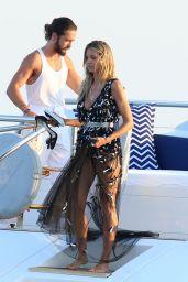 Heidi Klum and Tom Kaulitz on a Yacht in Sardinia 08/10/2018