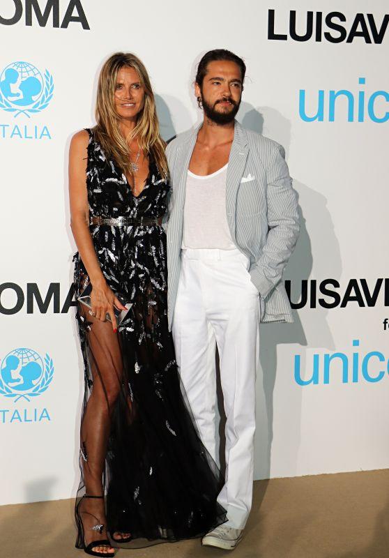 Heidi Klum and Tom Kaulitz – UNICEF Gala in Porto Cervo 08/10/2018