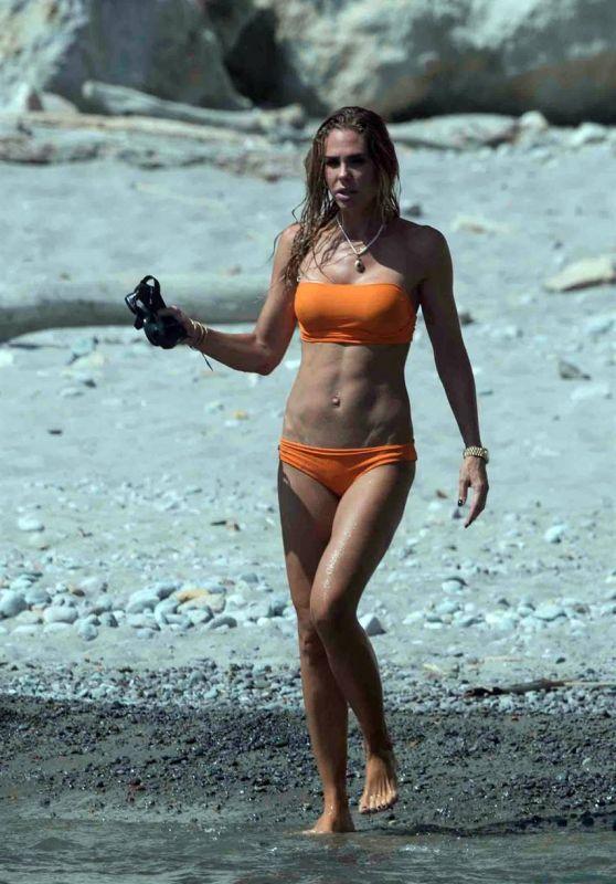 Ilary Blasi in Bikini - Holiday in Ponza, August 2018