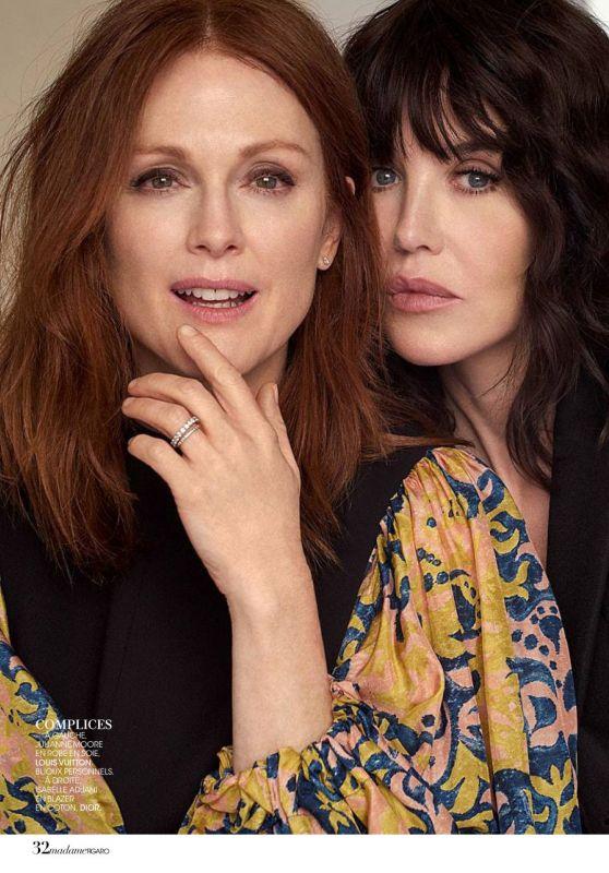 Isabelle Adjani and Julianne Moore - Madame Figaro, August 2018