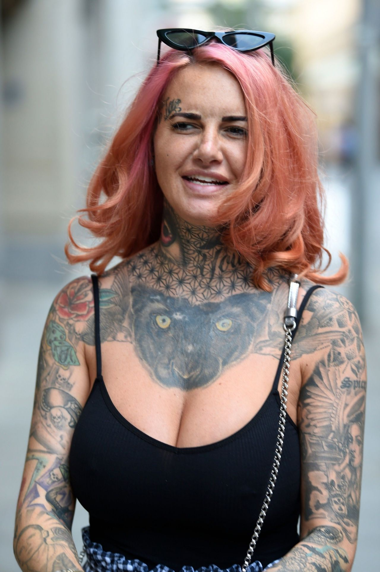 Jemma Lucy Leaving House Of Evelyn Hair and Beauty Salon