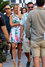 "Jennifer Aniston and Adam Sandler - ""Murder Mystery"" Set in Milan 08/27/2018"