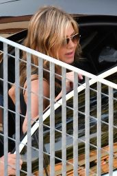 "Jennifer Aniston - Leaving "" Murder Mystery"" Set in Como, Italy 08/10/2018"