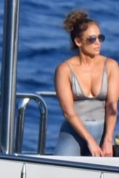 Jennifer Lopez in One-Piece Bikini - Italy 08/10/2018