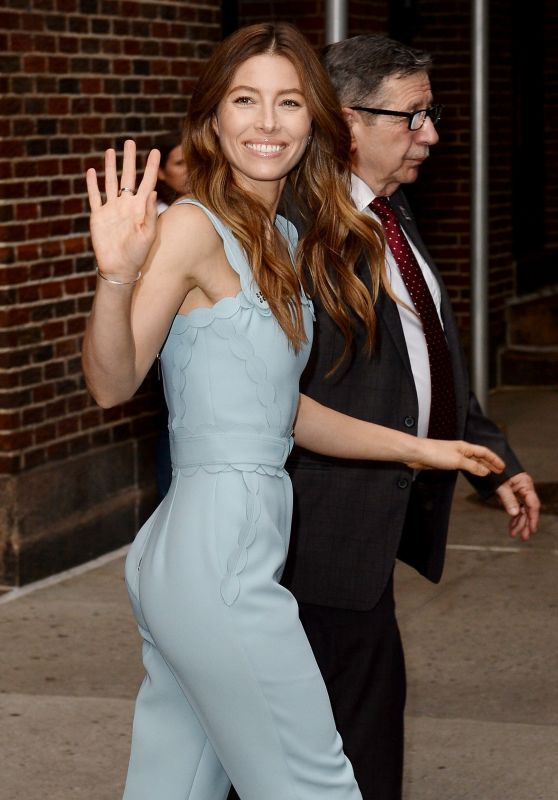Jessica Biel Leaves The Late Show with Stephen Colbert in NYC 08/15/2018